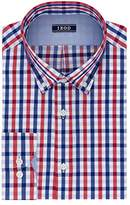 Izod Men's Slim Fit Tattersall Buttondown Collar Dress Shirt