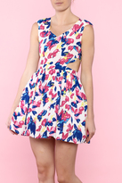 day and night Floral Party Dress
