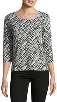 Karen Scott Petite Abstract Print Shirt