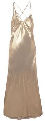 Mason by Michelle Mason Draped Lame Gown