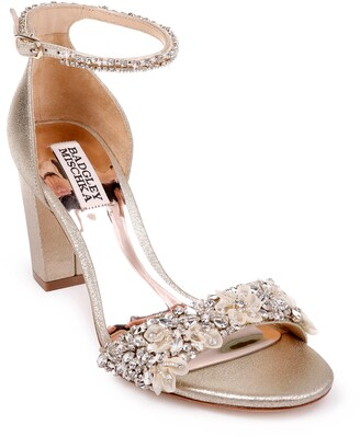 Badgley Mischka Finesse Embellished Ankle Strap Sandal