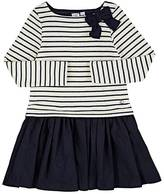 Petit Bateau METALLIC STRIPED COTTON-BLEND DRESS