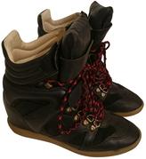 Isabel Marant Black Leather Trainers
