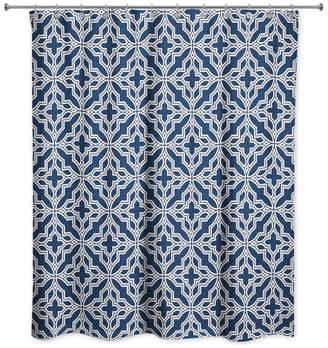 Designs Direct Creative Group Tile Shower Curtain, Blue