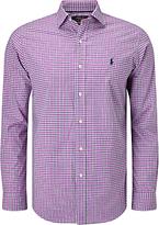 Polo Golf By Ralph Lauren Non Iron Cotton Check Sport Shirt, Fuchsia