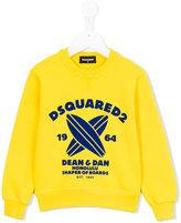 DSQUARED2 logo print sweatshirt - kids - Cotton - 4 yrs