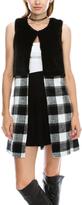 White & Black Plaid Vest