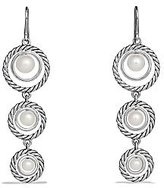 David Yurman Cable Pearl Triple-Drop Earrings