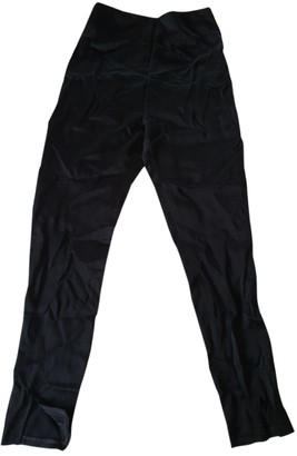 Tome Black Silk Trousers