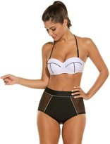 Avidlove Womens Halter Neck Bikini High Waist Vintage Push Up Padded Bra Swimwear Swimsuit