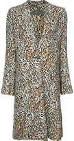 Raquel Allegra low neckline duster coat