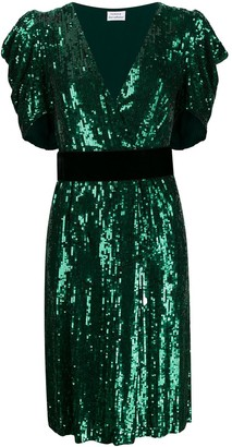 P.A.R.O.S.H. sequin embellished midi dress