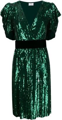 P.A.R.O.S.H. Sequin Embellished Midi Dress