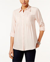 Style&Co. Style & Co. Roll-Tab Shirt, Only at Macy's