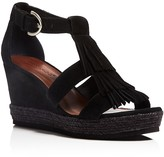 Bernardo Kaya Fringe Wedge Sandals