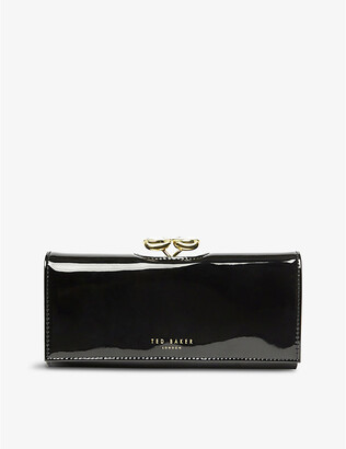 Ted Baker Emmeyy patent-front leather wallet