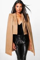 Boohoo Ava Wool Look Cape Coat