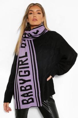 boohoo Babygirl Slogan Knitted Scarf