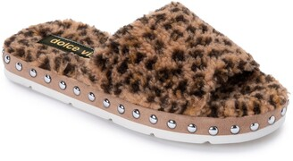 Dolce Vita Faux Fur Platform Slide Slipper