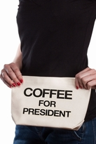 Dogeared Coffee For President Lil' Zip in Canvas