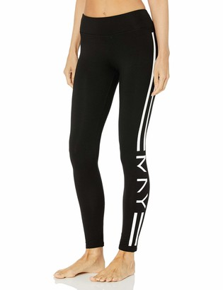 Andrew Marc Women's Long Legging W/mny Stripes