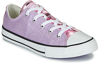Converse CHUCK TAYLOR ALL STAR METALLIC girls's Shoes (Trainers) in Pink