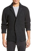James Perse Men's Notch Lapel Wool Blend Cardigan