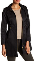 Via Spiga Seamed Funnel Neck Coat (Petite)