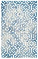 Safavieh Dip Dye Collection DDY538 Rug, Blue/Ivory, 6'x9'