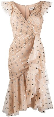 Temperley London Glitter Polka-Dot Tulle Dress
