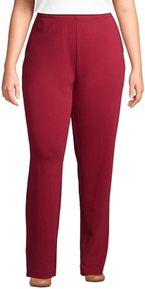 Lands' End Petite Plus Size Sport Knit French Terry Pull-On Pants