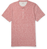 Faherty Slim-Fit Mélange Cotton-Blend Jersey Henley T-Shirt