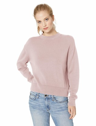 Daily Ritual Amazon Brand Women's 100% Cotton Long-Sleeve Crewneck Sweater