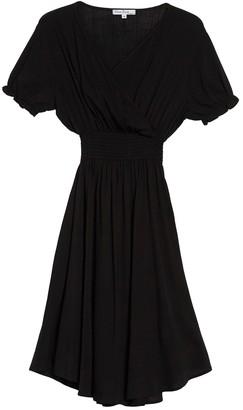 Velvet Torch Smocked Waist Puffed Sleeve Dress