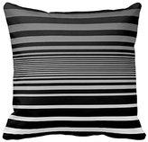 Eofison Simple Black Grey White Gradient Stripes Throw Pillow Cover