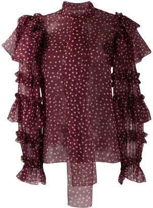 Dolce & Gabbana ruffle sleeve blouse