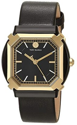 Tory Burch Blake Leather Watch (White) Watches