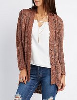 Charlotte Russe Chunky Knit Button-Up Cardigan