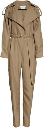 Bottega Veneta Belted Tricot Jumpsuit