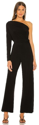 Norma Kamali Tie Front All In One Strapless Jumpsuit