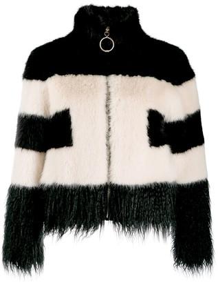 Elisabetta Franchi faux-fur cropped jacket