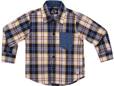 Something Strong Blue Plaid Button-Down - Boys
