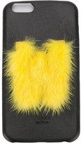 Fendi 'ABCover W' iPhone 6 hard case - women - Calf Leather/Mink Fur - One Size