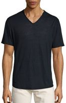 Vince Raw Edge V-Neck Tee