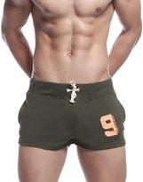 KINGDESON Men's Low-Waisted Sports Running Training Bottoms Lounge/Sleep Shorts