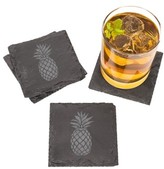 Cathy's Concepts Set Of 4 Pineapple Coasters