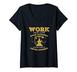 Womens Bank Account Bonus V-Neck T-Shirt