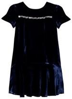 Oh My Navy Velvet Jewelled Dress