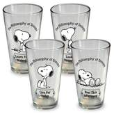 Bed Bath & Beyond ICUP Peanuts Snoopy Pint Glasses (Set of 4)