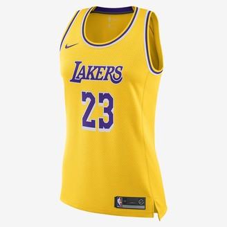 Nike Women's NBA Swingman Jersey LeBron James Lakers Icon Edition